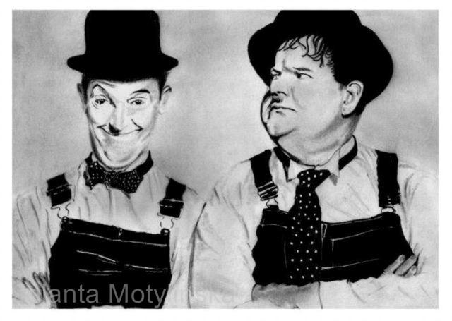 Oliver Hardy, Stan Laurel por jolabrodnica